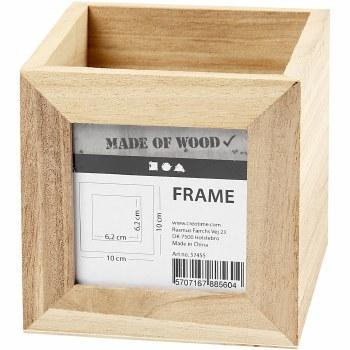 Wooden Pencil Holder w/Frame