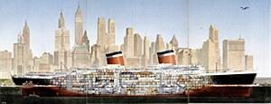 Passenger Liner S.S. United States Poster by Rolp Klep