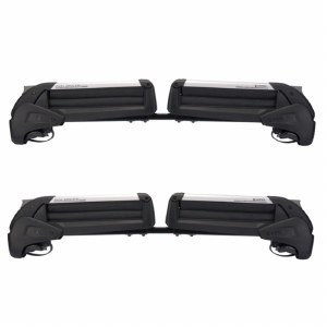Inno RH728 Dual Angle Ski and Snowboard Rack - Attaches to vehicles with Raised Side Rails