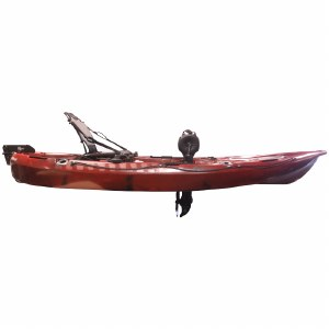 Riot Mako 10 Fishing Kayak with Impulse Pedal Drive - Fire Storm