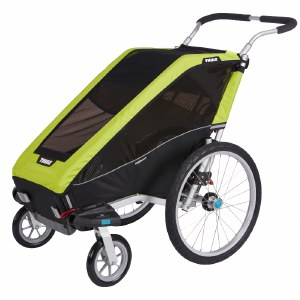 Thule Chariot Cheetah XT 1 - Multisport Stroller and Bike Trailer - Chartreuse