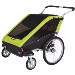 Thule Chariot Cheetah XT 2 - Multisport Stroller and Bike Trailer - Chartreuse