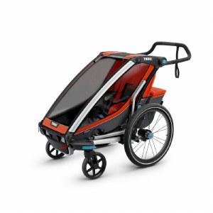 Thule Chariot Cross 1 - Multifunctional Child Carrier - Roarange and Dark Shadow