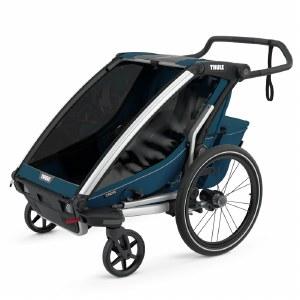 Thule Chariot Cross 2 - Multisport Stroller and Bike Trailer - Majolica Blue