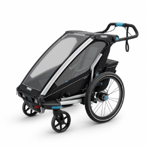 Thule Chariot Sport 1 - Multisport Stroller and Bike Trailer - Black