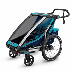Thule Chariot Cross 1 - Multisport Stroller and Bike Trailer - Blue