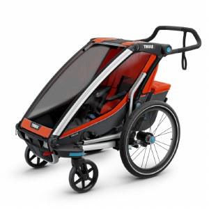 Thule Chariot Cross 1 - Multisport Stroller and Bike Trailer - Roarange