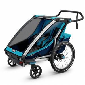 Thule Chariot Cross 2 - Multisport Stroller and Bike Trailer - Blue