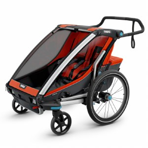 Thule Chariot Cross 2 - Multisport Stroller and Bike Trailer - Roarange