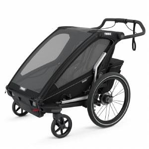 Thule Chariot Sport 2 - Multisport Stroller and Bike Trailer - Black with Black Frame