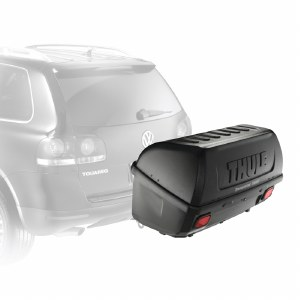 """Thule 665C Transporter Combi - Hitch Mount Cargo Box - Fits 2"""" and 1 1/4"""" Hitches"""