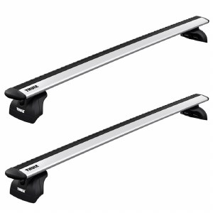 Thule WingBar Evo Roof Rack Package for Flush Side Rails, Fixed Points, and Tracks - Silver