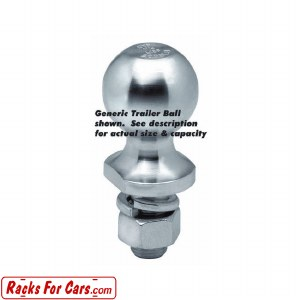 "63814 Speciality Trailer Ball - Extra Long - 1-7/8"" Ball"