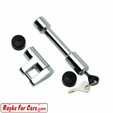 "Bulldog 580404 5/8"" Dog Bone Receiver and Coupler Lock Combo - Chrome"