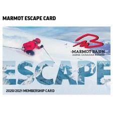 Marmot Basin Escape Card - Valid 2020/2021 Season