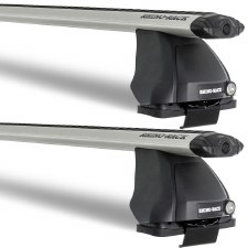 Rhino-Rack Vortex 2500 Roof Rack Package - Fits Bare Roofs - Silver