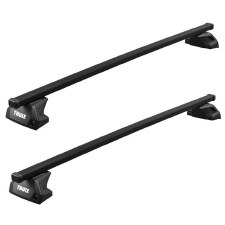 Thule SquareBar Evo Roof Rack Package - Fits Flush Side Rails - Black