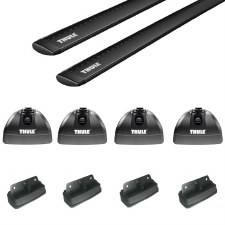 Thule Aeroblade Roof Rack for Flush Rails, Fixed Points, and Tracks - Black