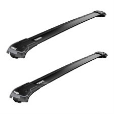 Thule Aeroblade Edge Roof Rack Package - Fits Raised Side Rails - Black