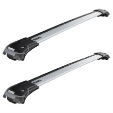 Thule Aeroblade Edge Roof Rack Package - Fits Raised Side Rails - Silver