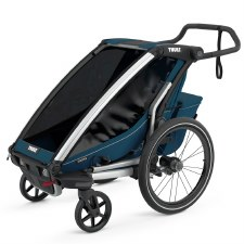 Thule Chariot Cross 1 - Multisport Stroller and Bike Trailer - Majolica Blue