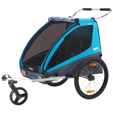 Thule Coaster XT Bike Trailer and Child Stroller for 2 Children - Blue