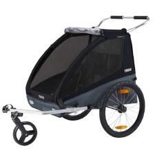 Thule Coaster XT Bike Trailer and Child Stroller for 2 Children - Black