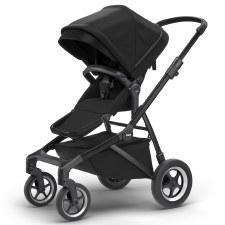 Thule Sleek Stroller - Midnight Black with Black Frame