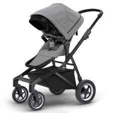 Thule Sleek Stroller - Grey Melange with Black Frame