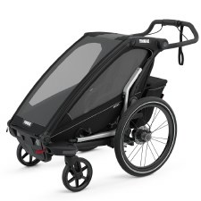 Thule Chariot Sport 1 - Multisport Stroller and Bike Trailer - Black with Black Frame