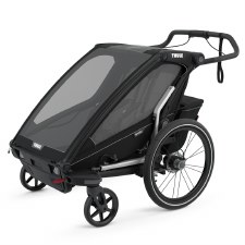 Thule Chariot Sport 2 - Multisport Stroller and Bike Trailer - Black with Black Frame