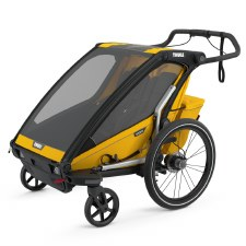 Thule Chariot Sport 2 - Multisport Stroller and Bike Trailer - Spectra Yellow with Black Frame