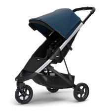 Thule Spring Stroller - Majolica Blue with Silver Frame