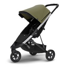 Thule Spring Stroller - Olive with Silver Frame