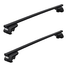 Thule SquareBar Evo Roof Rack Package - Fits Raised Side Rails - Black