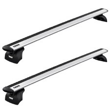 Thule WingBar Evo Roof Rack Package - Fits Fixed Points and Tracks - Silver