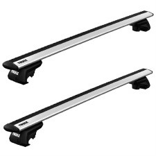 Thule WingBar Evo Roof Rack Package - Fits Raised Side Rails - Silver