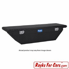 """UWS TBS-63-A-LP-BLK 63"""" Single Lid Crossover Low Profile Angled Truck Toolbox Black"""