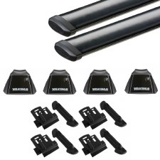 Yakima RidgeLine CoreBar Roof Rack Package - Fits Flush Side Rails - Black