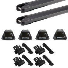 Yakima RidgeLine Heavy Duty Roof Rack Package - Fits Flush Side Rails - Black