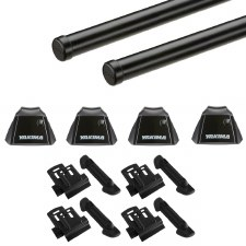 Yakima RidgeLine RoundBar Roof Rack Package - Fits Flush Side Rails - Black