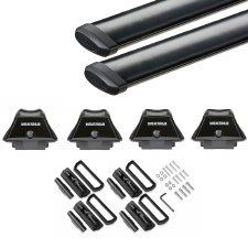 Yakima SkyLine CoreBar Roof Rack for Fixed Points and Tracks - Black