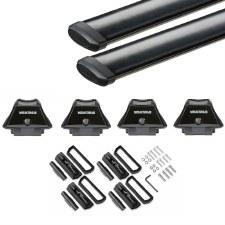 Yakima SkyLine CoreBar Roof Rack for Fixed Points and Tracks - Black
