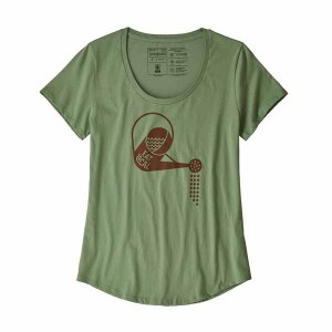 Women's Eat Local Rain Can Organic Cotton Scoop T-Shirt