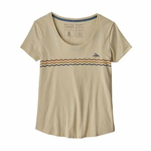 Women's Flying Fish Line Up Organic Cotton Scoop T-Shirt