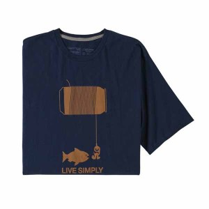 Men's Live Simply Happy Hour Organic Cotton T-Shirt