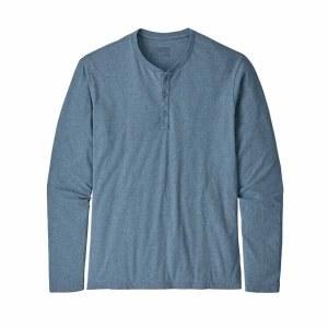 Men's Long-Sleeved Organic Cotton Lightweight Henley Pullover