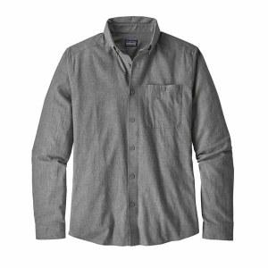 Men's Long-Sleeved Vjosa River Pima Organic Cotton Shirt