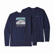 Men's Long-Sleeved Line Logo Ridge Responsibili-Tee