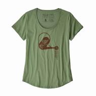 Women's Eat Local Rain Can Organic Cotton Scoop T-Shirt